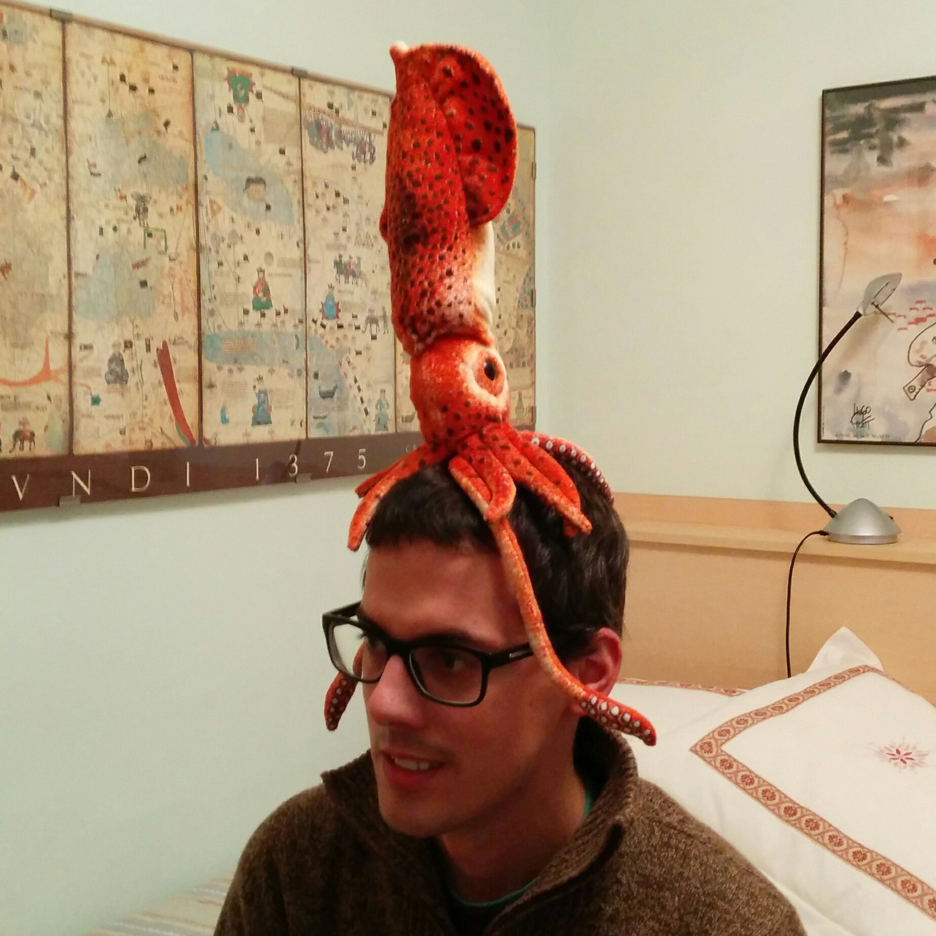 Me with a squid on my head